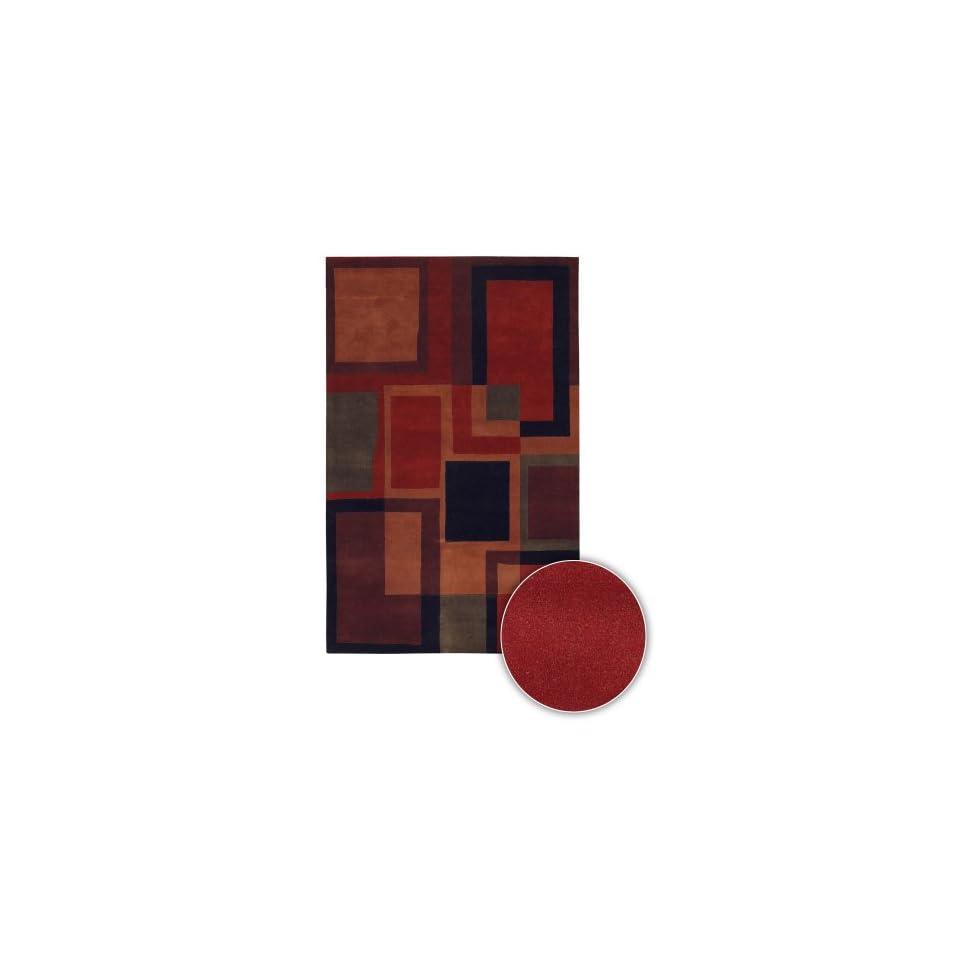 Chandra Rugs Antara Contemporary Wool Area Rug 114 Multi Boxes 79 Round