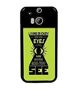 PrintDhaba Quote D-5484 Back Case Cover for HTC ONE M8s (Multi-Coloured)