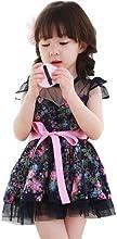 CM-CG Little Girls39 Floral Bowknot Lace Ribbon Belt Princess Dress 2-7Y