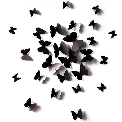 eenkula-12-DCalque-De-Mur-3D-Papillon-Bricolage-Stickers-Muraux-Papillon-Aimant-Pour-la-Dcoration-Maison-Noir