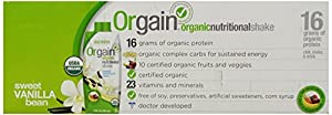 Orgain Organic Sweet Vanilla Bean, 11-Ounce Container (Pack of 12)