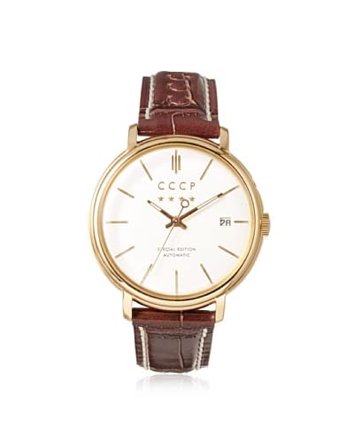 CCCP Men's 7019-05 Heritage Red/White/Gold Stainless Steel Watch