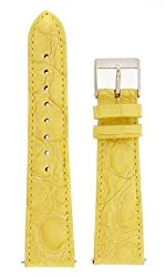 Watch band Genuine Crocodile Strap 20mm Yellow