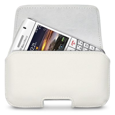 BLACKBERRY BOLD 9780 PU LEATHER HORIZONTAL CASE COVER POUCH WALLET - WHITE