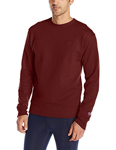 Champion Men's Powerblend Pullover Sweatshirt, Maroon, XX-Large