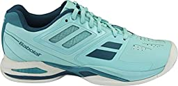 BABOLAT Ladies Propulse Team All Court Shoe, Blue, US8.5