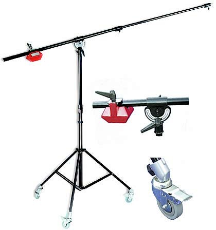 Micansu BS348 Quality Heavy Duty Boom Arm Light Stand kit