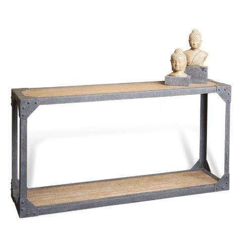 Cheap Jardin Antique Oak Industrial Loft Rustic Iron Console Table (B009AZGLG8)