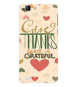 EPICCASE Hearty thanks Mobile Back Case Cover For Vivo X 3s (Designer Case)