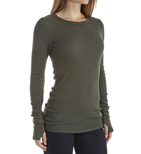 Michael Stars Thermal Long Sleeve Raw Edge Crew Neck (1402) O/S/Tarragon (Michael Stars Raw Edge compare prices)