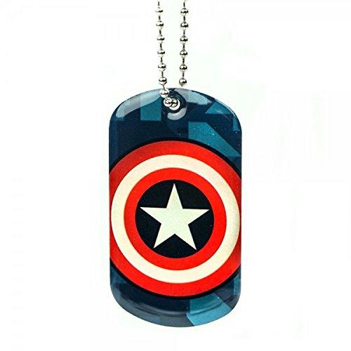 Marvel Captain America Shield Logo Dog Tag Collana