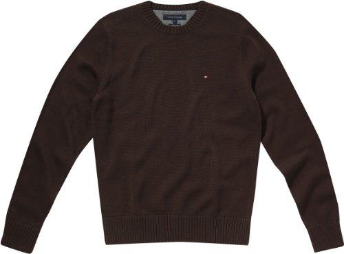 tommy hilfiger pullover herren mit reißverschluss braun