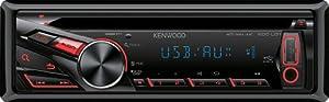 Kenwood KDC-U31R CD/MP3-Tuner (AUX-IN, USB 2.0, rote Tastenbelechtung)