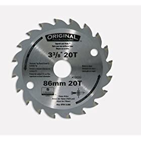 Original 00020 3-3/8-Inch 20 Tooth C3 Carbide Tooth Circular Saw Blade