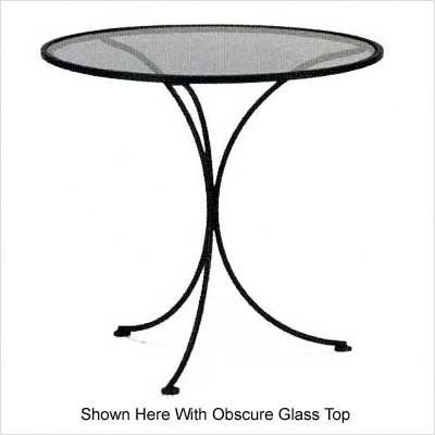 "Glass Top Set-Up 30"" Table Finish: Hazelnut, Glass Type: Clear"