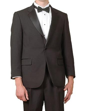 New mens classic black 5 piece 1 button tuxedo with shirt for Tuxedo shirt black buttons