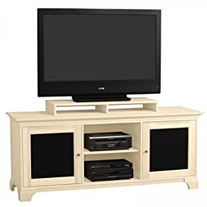 jake 70 inch wide two tone door flat screen television console with shelf by stacks. Black Bedroom Furniture Sets. Home Design Ideas