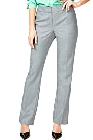 Autograph Wool Blend Straight Leg Checked Trousers