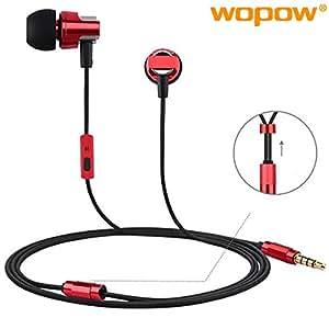 WOPOW EM608 Full Metal In-ear Wired Control Headphone Earphone With Mic**