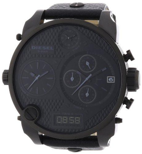 Diesel Herren-Armbanduhr XL Mr. Daddy Multi Movement Analog - Digital Quarz Leder DZ7193
