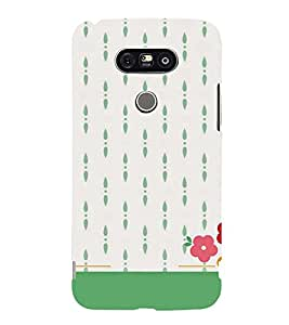 flowers in a white background 3D Hard Polycarbonate Designer Back Case Cover for LG G5:LG G5 Dual H860N with dual-SIM card slots