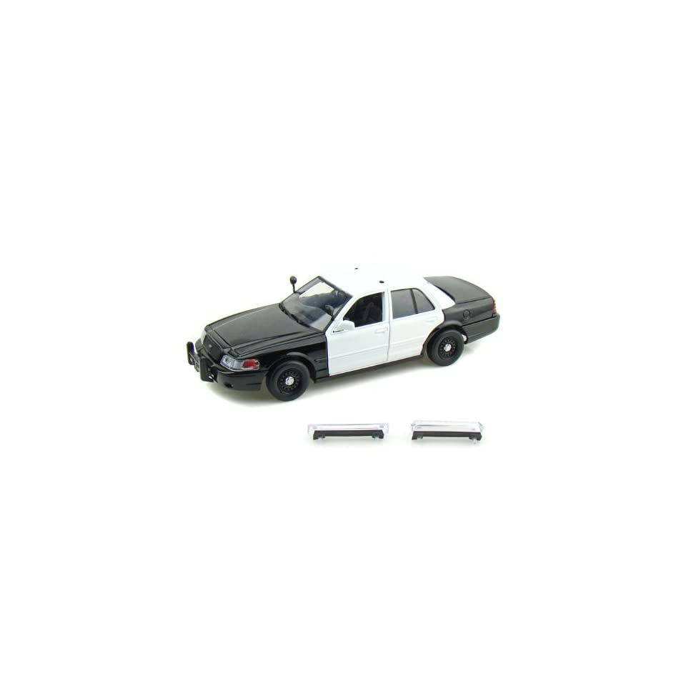 2007 Ford Crown Victoria Police Car Blank 1/24 Black / White
