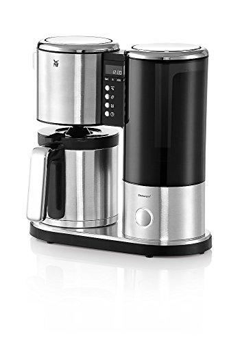LINEO Kaffeemaschine Thermo, 10 Tassen, 900 W, LC-Display, Timer-Funktion, cromargan matt/silber