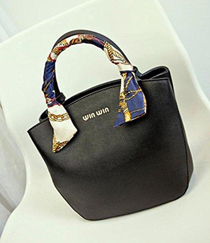 GQ-WOMEN BAG 2016 nuovo moda borse borsetta borsa a tracolla in pelle borsa a mano , black