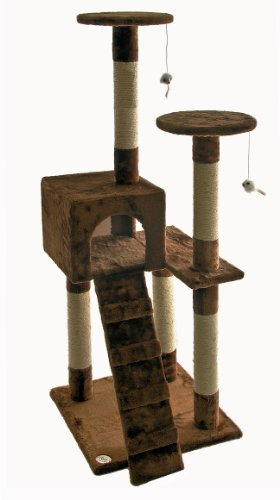 Go Pet Club 52-Inch Cat Tree, Brown