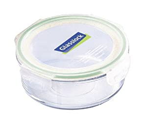 Kinetic Glasslock Series 24-Ounce Round Glass Food Storage Container With Locking Lid 01315