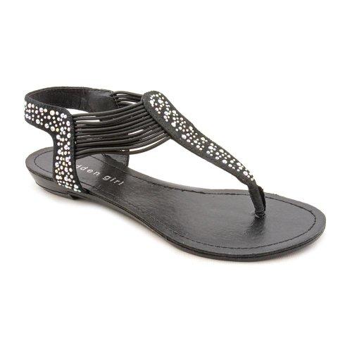Madden Girl Tanduum Open Toe Thongs Sandals Shoes Black Womens UK 4
