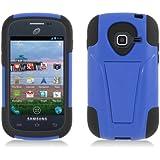 [Buy World, Inc] for Samsung Galaxy Centura S738c (Straight Talk) Black Skin+blue Cover