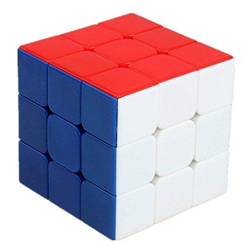 Senioroy Mágico Cubo 3x3x3 55 mm Mágico Cube velocidad Negro (Stickerless)