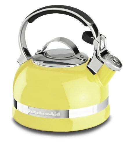 Kitchenaid Kten20Sbis 2.0-Quart Kettle With Full Stainless Steel Handle And Trim Band - Citrus Sunrise