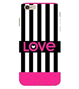 Love Black Lines 3D Hard Polycarbonate Designer Back Case Cover for Apple iPhone 6 Plus