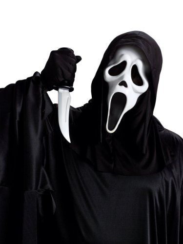 GHOST FACE MASK W/KNIFE