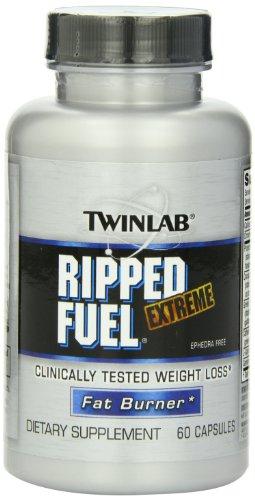 Twinlab Ripped Fuel Extreme Fat Burner, éphédra, 60 capsules