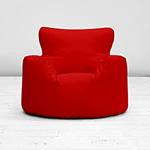 Childrens Kids Bright Red Cotton Small Chair Seat Beanbag Bean Bag with Filling