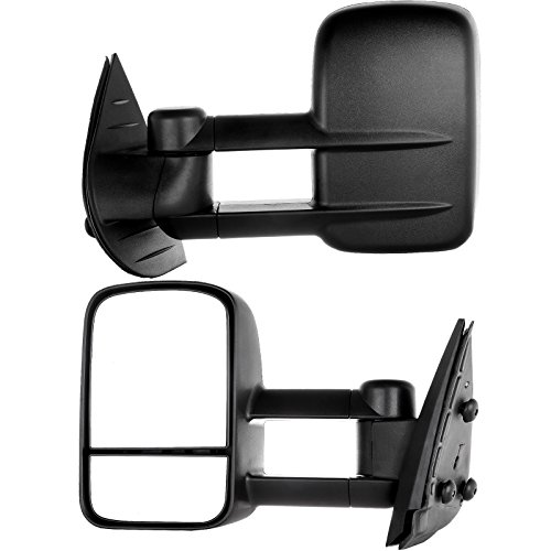 Side Mirror for 2007-2013 Chevy/gmc Silverado/sierra Manual Towing Mirror Pair (08 09 10 11 12 Models) Fits 62077-78g (Just Fit 07 New Body Style) (2007 Chevy Silverado Tow Mirrors compare prices)