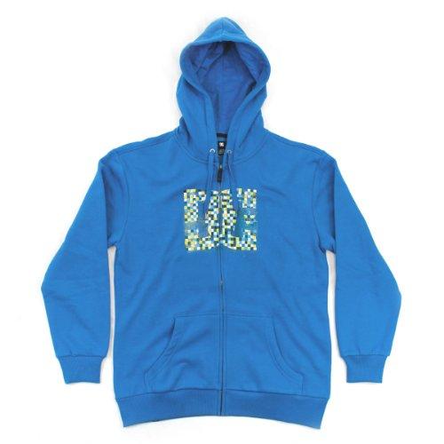 DC Shoes Men's Squander Zip Hooded Sweatshirt - Directoire Blue (Medium)
