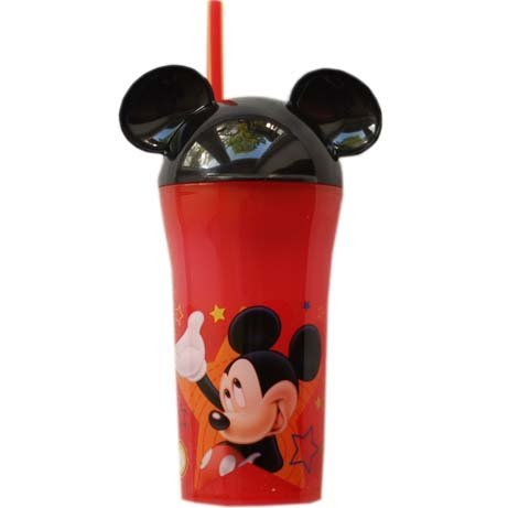 """Disney """"Mickey Mouse Sippy Tumbler With Straw & Ears front-886497"""