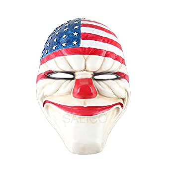 SALICO Party Mask Payday2 Dallas Masquerade Resin Costume Mask