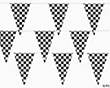 100 Ft Checkered Flag Banner Pennant Car Racing Party