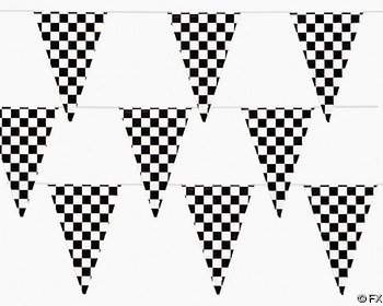 Great Features Of 100 Ft Checkered Flag Banner Pennant Car Racing Party