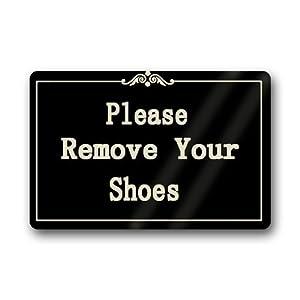 Please remove your shoes custom doormat non woven fabric top 23 6 x15 7 patio - Remove shoes doormat ...