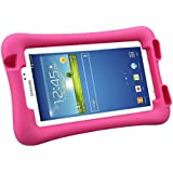 NEWSTYLE Shock Proof Case Light Weight Kids Super Protection Cover with Audio Amplifier Design For Samsung Galaxy Tab 3 7.0-inch Tablet (Rose)
