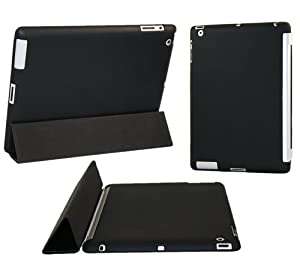 "iTALKonline ProGel BLACK Back Cover Tough TPU Case / Skin for Apple iPad 3 ""The New iPad"" 2012 3rd Generation HD 2S (Wi-Fi and Wi-Fi + 3G) 16GB 32GB 64GB - Retina Display works with GENUINE Apple iPad 2 Smart Cover"