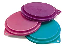 Pet Food Can Covers - 3.5 in. Diameter - 3 pk