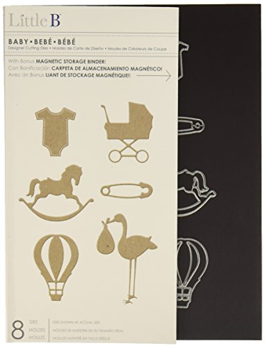 Little B 100389 8-Piece Baby Cutting Die Templates (Little B Magnetic Storage Binder compare prices)