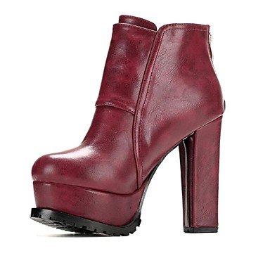 MissBoot Schuhe Mode Stiefel Frauen runde Kappe Plattform Blockabsatz Stiefeletten mehr Farben erhältlich